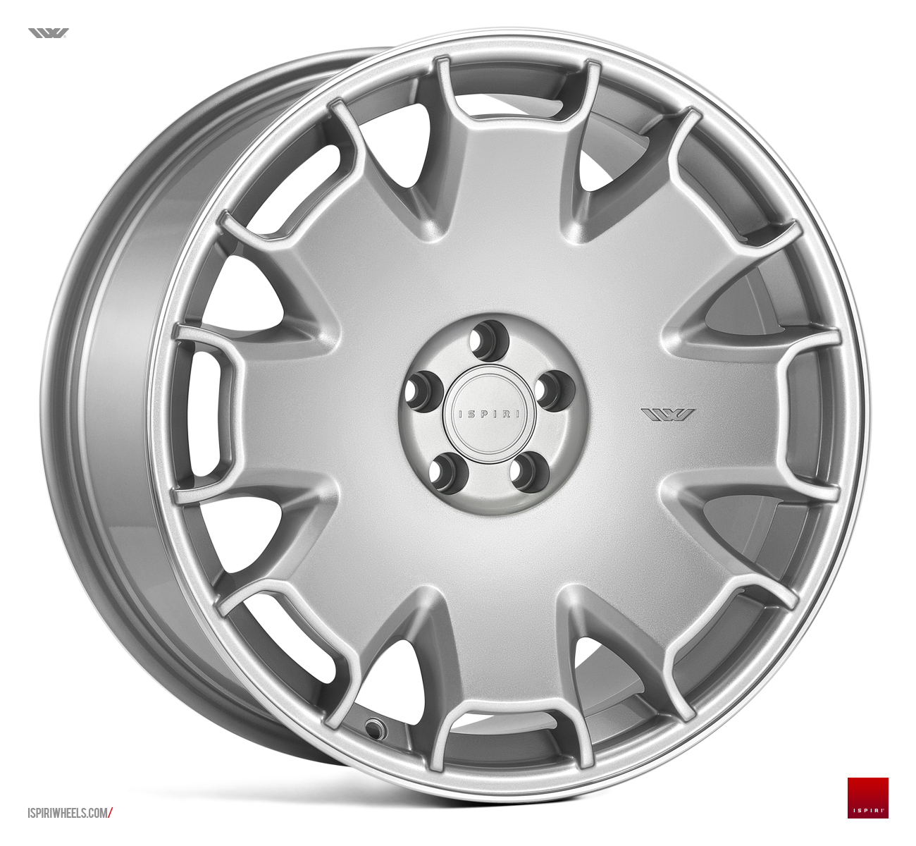 "NEW 19"" ISPIRI CSR2 ALLOY WHEELS IN PURE SILVER WITH POLISHED LIP et35/33"